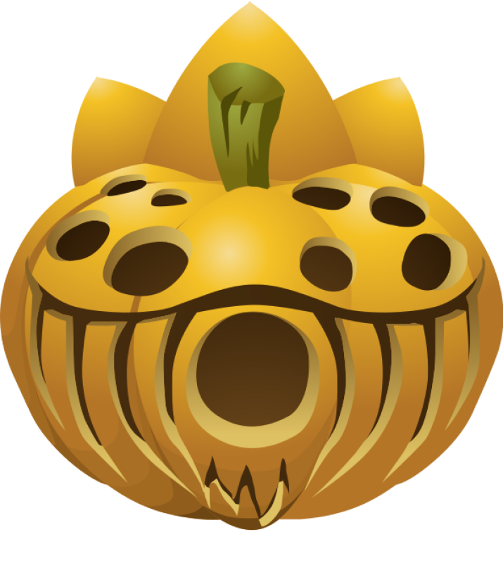 Carved Pumpkin Clipart png free, Carved Pumpkin transparent png