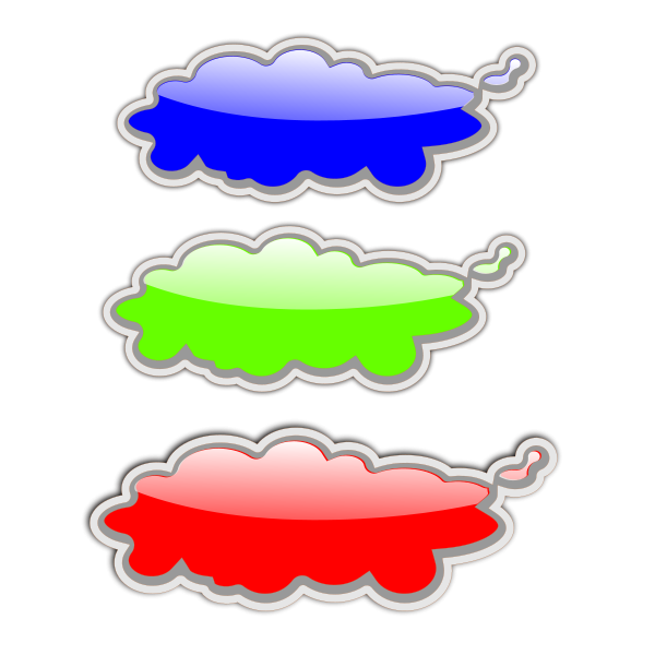 Glossy Clouds Clipart png free, Glossy Clouds transparent png