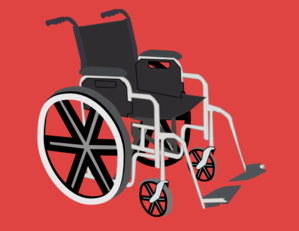 Wheelchair Clipart png free, Wheelchair transparent png