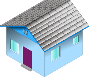 Small Blue House Clipart png free, Small Blue House transparent png