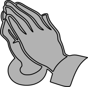 Gray Praying Hands  Clipart png free, Gray Praying Hands  transparent png