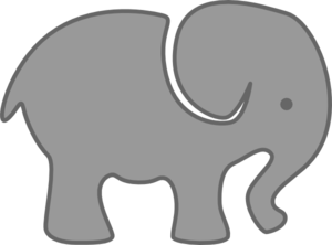 Gray Elephant Clipart png free, Gray Elephant transparent png