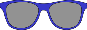 Blue Sunglasses Clipart png free, Blue Sunglasses transparent png
