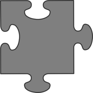 Gray Border Puzzle Piece Clipart png free, Gray Border Puzzle Piece transparent png