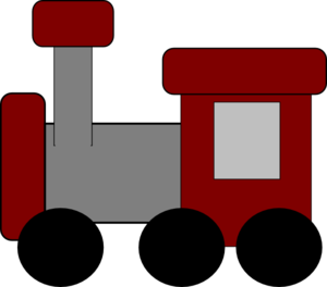 Red Train Clipart png free, Red Train transparent png