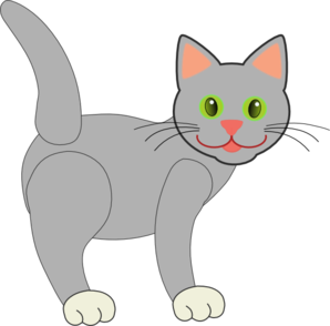 Gray Cat Clipart png free, Gray Cat transparent png