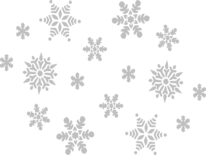 Gray Snowflakes Clipart png free, Gray Snowflakes transparent png