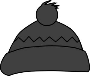 Grey Winter Hat Clipart png free, Grey Winter Hat transparent png