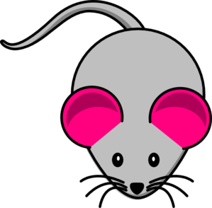 Pink Ear Gray Mouse2 Clipart png free, Pink Ear Gray Mouse2 transparent png