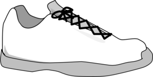 Gray Shoe Clipart png free, Gray Shoe transparent png