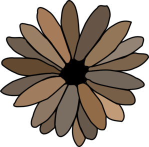 Gray Brown Daisy Clipart png free, Gray Brown Daisy transparent png