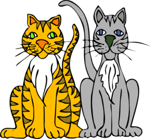 Two Cartoon Cats Clipart png free, Two Cartoon Cats transparent png