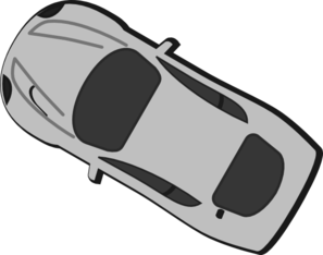 Gray Car - Top View - 150 Clipart png free, Gray Car - Top View - 150 transparent png