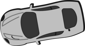 Gray Car - Top View - 190 Clipart png free, Gray Car - Top View - 190 transparent png