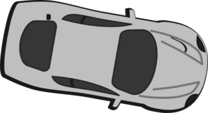 Gray Car - Top View - 350 Clipart png free, Gray Car - Top View - 350 transparent png