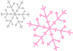 Ornament Snowflakes Pink Gray Clipart png free, Ornament Snowflakes Pink Gray transparent png
