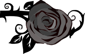 Gray Rose Clipart png free, Gray Rose transparent png