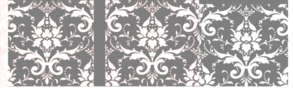 Damask Gray And Pink Clipart png free, Damask Gray And Pink transparent png