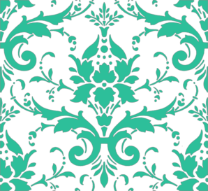 Teal Green Damask Clipart png free, Teal Green Damask transparent png