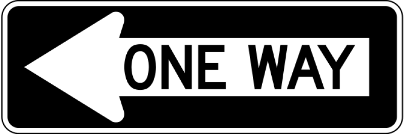 One Way Sign Clipart png free, One Way Sign transparent png