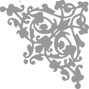 Gray Scroll Clipart png free, Gray Scroll transparent png