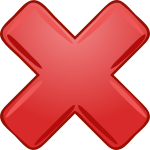 Red X Cross Wrong Not Clipart png free, Red X Cross Wrong Not transparent png