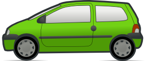 Red And Green Renault Twingo 2 Clipart png free, Red And Green Renault Twingo 2 transparent png