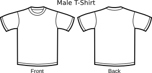 T Shirt Template Clipart png free, T Shirt Template transparent png