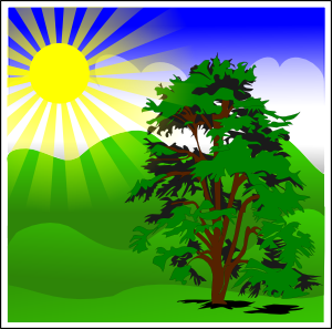 Sunny Spring With Blue Sky Clipart png free, Sunny Spring With Blue Sky transparent png