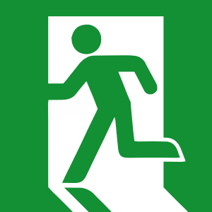 Emergency Exit Sign Clipart png free, Emergency Exit Sign transparent png