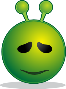 Smiley Green Alien Sorry Clipart png free, Smiley Green Alien Sorry transparent png