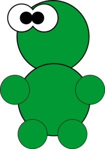 Little Green Thing Clipart png free, Little Green Thing transparent png