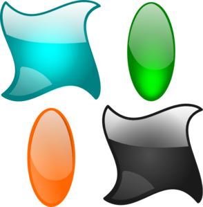 Glossy Shapes 2 Clipart png free, Glossy Shapes 2 transparent png