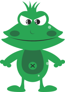 Mean Frog Clipart png free, Mean Frog transparent png