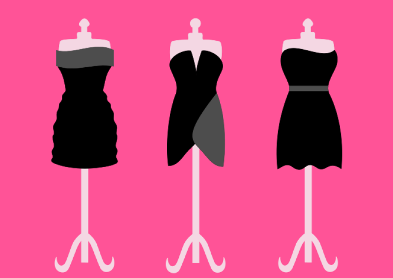 Three Black Dresses Clipart png free, Three Black Dresses transparent png