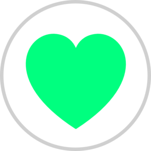 Green Heart Clipart png free, Green Heart transparent png
