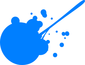 Blue Paint Splatter Clipart png free, Blue Paint Splatter transparent png