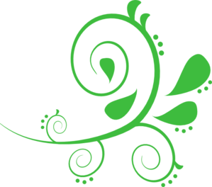 Paisley Curves Green Clipart png free, Paisley Curves Green transparent png
