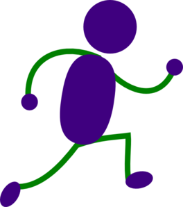 Running Man Purple And Green Clipart png free, Running Man Purple And Green transparent png