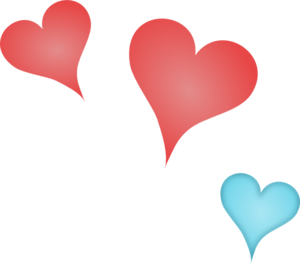 Three Hearts Clipart png free, Three Hearts transparent png