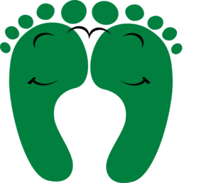 Green Happy Feet Clipart png free, Green Happy Feet transparent png