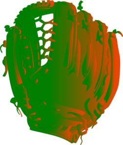 Green And Orange Glove Clipart png free, Green And Orange Glove transparent png