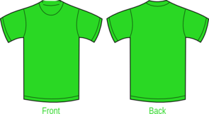 Plain Green Shirt Clipart png free, Plain Green Shirt transparent png