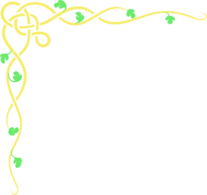 Yellow Green Flower Border Clipart png free, Yellow Green Flower Border transparent png