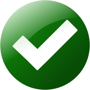 Simple Green Check Button Clipart png free, Simple Green Check Button transparent png