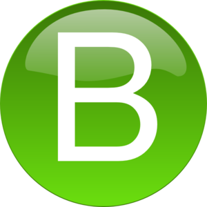 Green B  Clipart png free, Green B  transparent png