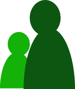 Two Green People Clipart png free, Two Green People transparent png