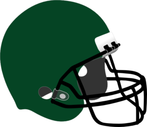 Dark Green Football Helmet Clipart png free, Dark Green Football Helmet transparent png