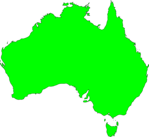Australia In Green Clipart png free, Australia In Green transparent png