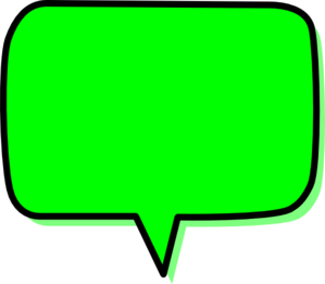 Green Speech Bubble Clipart png free, Green Speech Bubble transparent png
